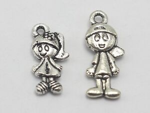 100-Mixed-Tibet-Silver-Kid-girl-and-boy-Charms-Pendants-Jewelry-Making