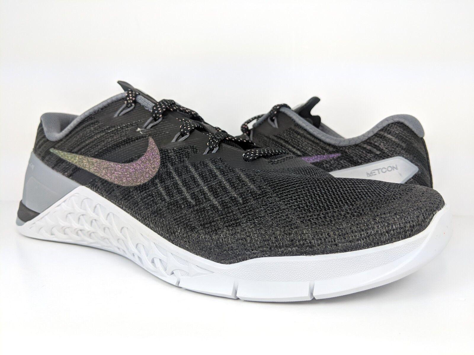 Nike Women's Metcon 3 Metallic Training Black Multi-color (922880-001) sz 10.5