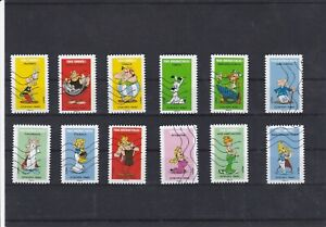 FRANCE-2019-ASTERIX-SERIE-COMPLETE-DE-12-TIMBRES-OBLITERES
