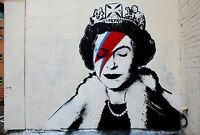 Banksy Queen Poster Street Art  Print A0-A1-A2-A3-A4