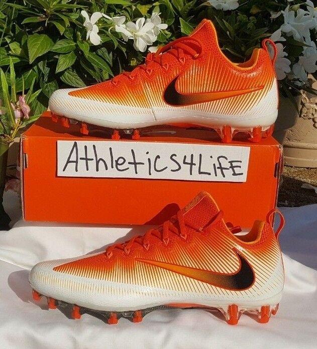 6052202b36e NIKE VAPOR UNTOUCHABLE PRO FOOTBALL CLEATS SIZE 11 orange WHITE 833385-801