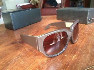 Alexander-Wang-By-Linda-Farrow-Brown-Leather-Sunglasses