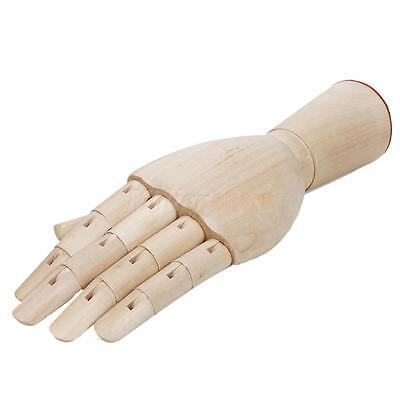 """New 11"""" Wooden Artist Manikin Male Left Hand Artculated Art Class Mannequin Wood"""
