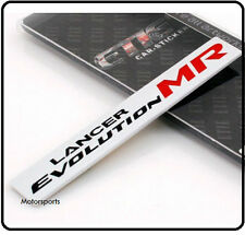 Lancer Evolution Brushed Aluminium Badge Emblem Mitsubishi EVO Mivec Ralliart 77