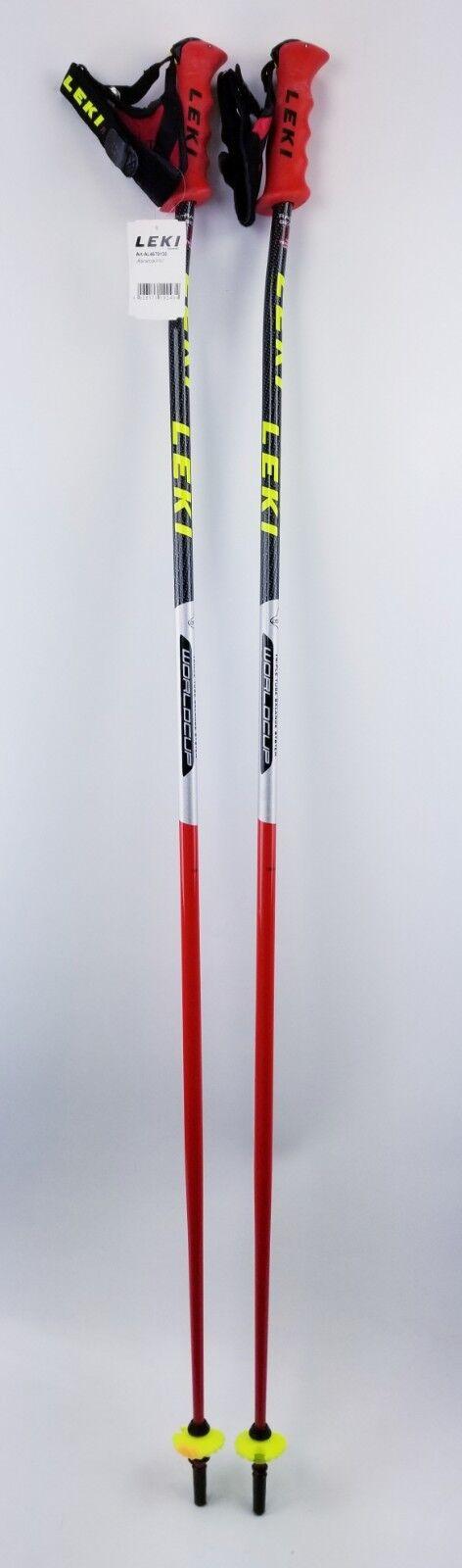 NEW  250 LEKI World Cup Racing Ski Poles  130CM 52  Downhill Skiing  good price