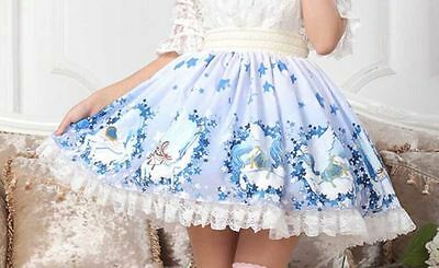 Cosplay Lolita Fantasy Fairy Tale Starry Sky Princess skirt with lace