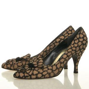 70b2f5e5d1f9 Stuart Weitzman for Mr. Seymour Vintage Gold Black Bow Heels- Size 7 ...