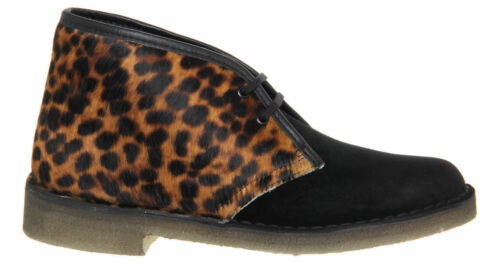 Clarks Originals Femme ** Desert Boot Animal Imprimé Léopard ** UK 3.4 5,6,7,8 C