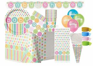 Baby Shower Neutral Polka Dots Party Supplies Tableware Decorations Unisex Ebay