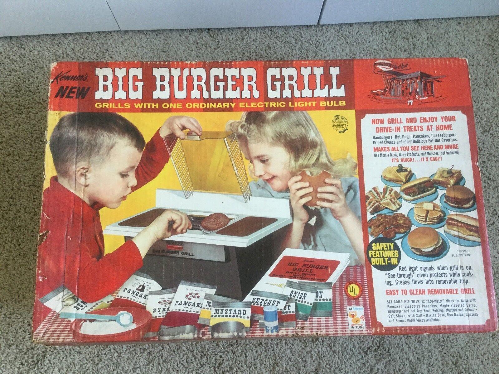 alta qualità generale RARE ORIGINAL VINTAGE giocattolo giocattolo giocattolo 1967 KENNER'S gree BURGER GRILL W scatola lavoroS. NO. 1400  ultimi stili