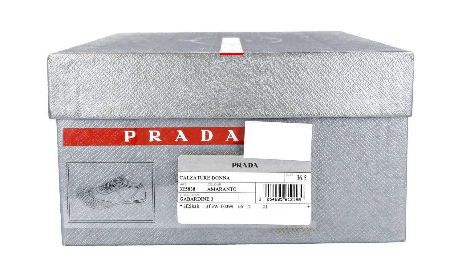 AUTHENTIC AUTHENTIC AUTHENTIC LUXURY PRADA SNEAKERS SHOES 3E5838 RED NEW US 6.5 EU 36,5 37 a07279