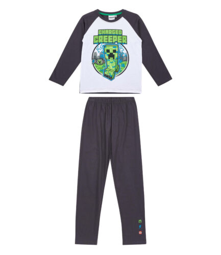 Boys Kids Official Licensed Minecraft Long Sleeve Pyjamas PJs 8-12