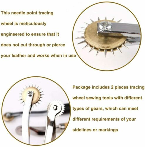 Leather Needle Point Tracing Wheel Spacer For Pattern Sewing Dressmaking Crafts