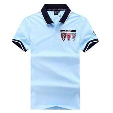 New 2017 men's summer classic Paul Shark logos short sleeves collar T-shirt/Top
