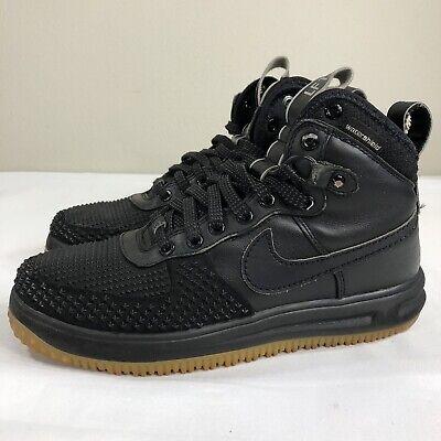 Details about Nike Lunar Air Force 1 LF1 10 12 13 Duckboot Black Silver Gum QS One 805899 003