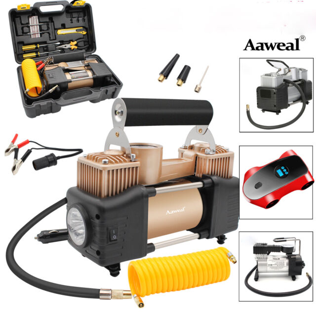 Mini Air Compressor 150PSI Car Tyre Inflator Metal Kit Pressure Pump 12V 35L//Min