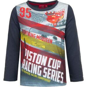 Kinder Jungen Disney Pixar Cars Langarmshirt Pullover T-Shirt Shirt Grau 98- 128