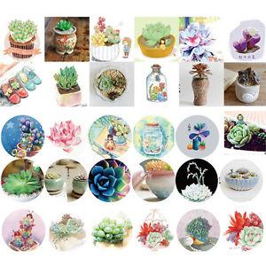 46Pcs/box Succulent Plants Mini Lable Sticker Decoration DIY Diary Scrapbooking