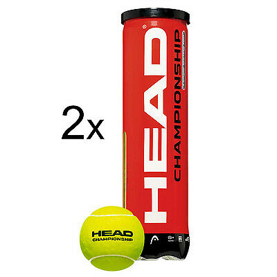 2x Head - Championship 4er gelb Tennisbälle (8 Bälle)