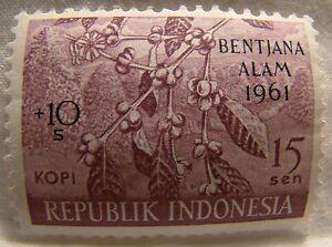 Indonesia Stamp 1961 Scott B132 A76 Mint Flooding Overprint