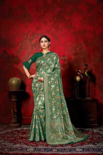 Designer Banarasi Woven Silk Saree Indian Pakistani Kanchipuram Sari Blouse LB