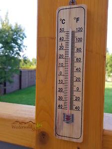 thermometer holz wandthermometer gartenthermometer au enthermometer ebay. Black Bedroom Furniture Sets. Home Design Ideas