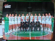 (AB97) Poster 81x55 cm , BENETTON TREVISO / SCAVOLINI PESARO SQUADRA basket