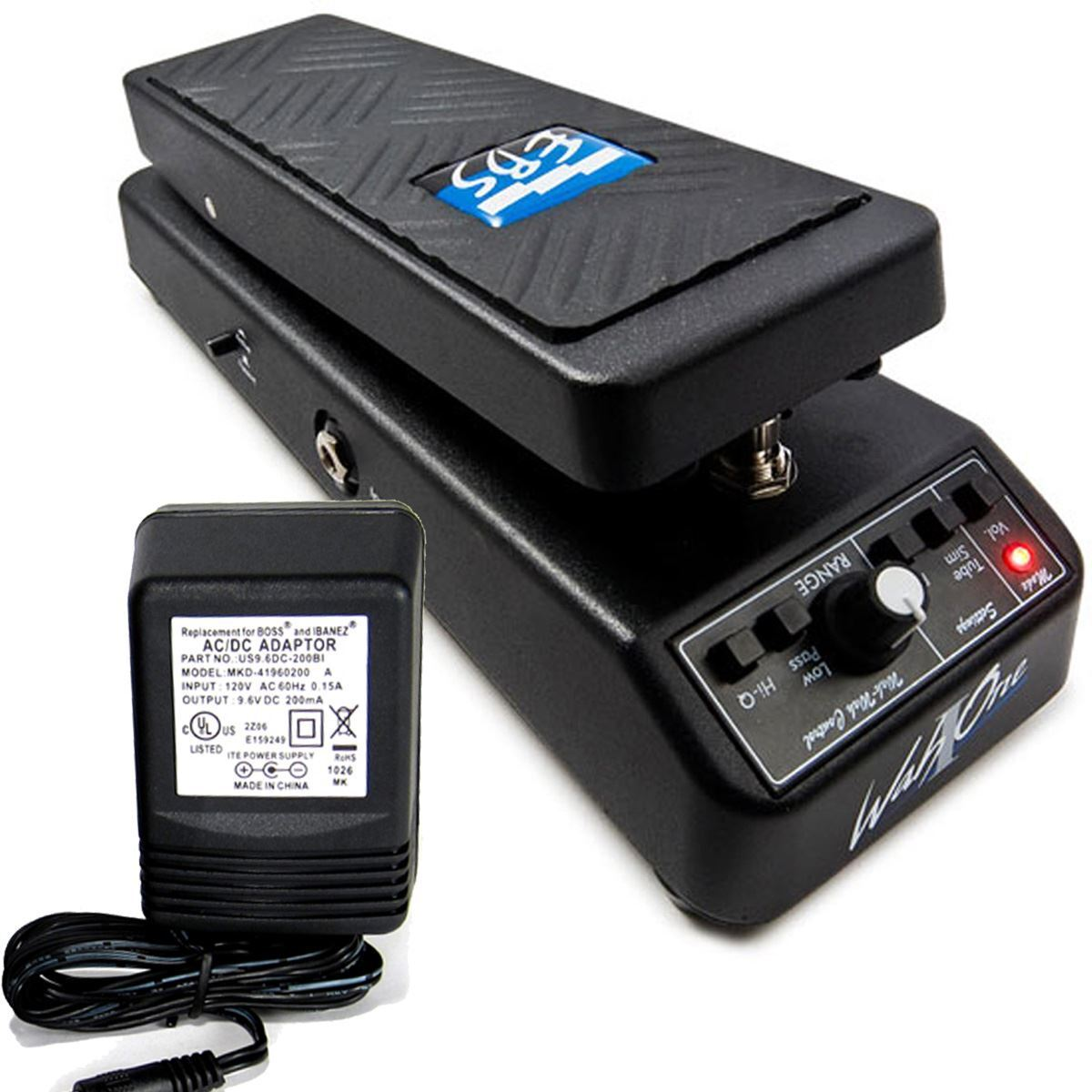 EBS WahOne Professional Bass Wah-Wah/Volume Pedal w/ 9v power supply 0 shipping