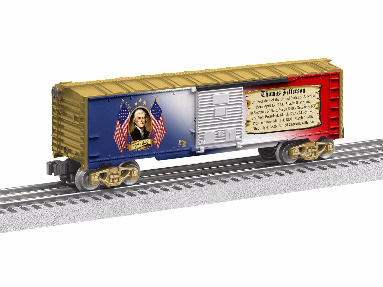 2012 6-39340 Thomas Jefferson Boxcar free shipping made in the usa new in the bo