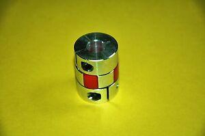 D 25mm L 34mm CNC Flexible Jaw Spider Plum Coupling Shaft Coupler