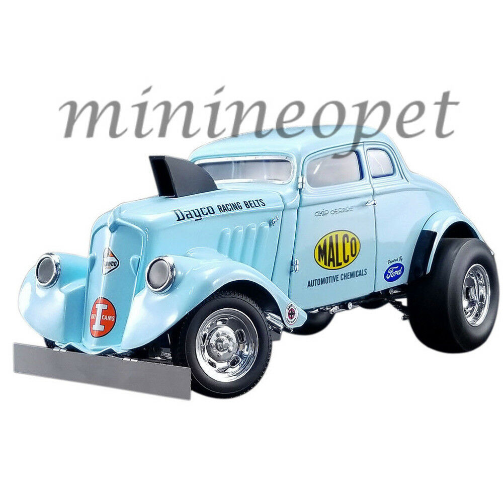 ACME A1800911 1933 MALCO GASSER  OHIO  with AIR PLOW 1 18 DIECAST LIGHT bleu