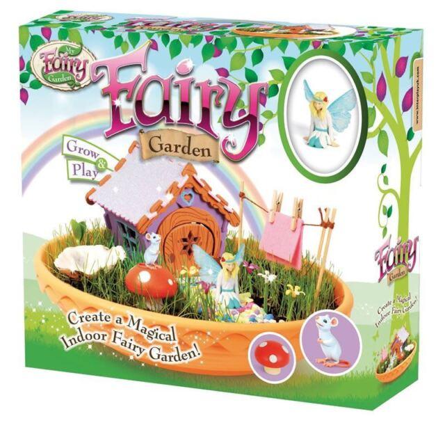 My Fairy Garden Interior Fairy Jardín con 8-page Guía y Pack de Hierba Semillas