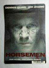 HORSEMEN DENNIS QUAID ZIYI ZHANG COV ART MINI POSTER BACKER CARD (NOT A MOVIE )