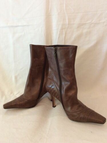 Faith Ankle Leather Brown 7 Boots Size r1fxrwqRv