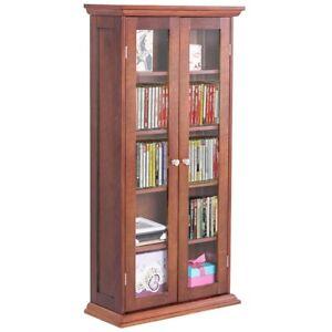 Image Is Loading Adjule Wood Media Storage Cabinet Cd Shelves W