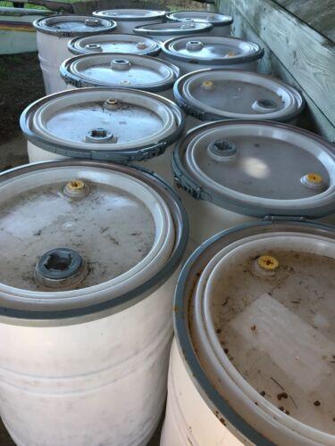 35 Gallon Plastic Barrels Food Grade HDPE Rain Barrels Drum Container