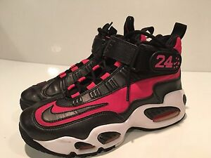 2010-Nike-Air-Griffey-Max-1-Girls-Black-Spark-White-Basketball-Shoes-Youth-Size