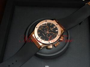 Image is loading Hublot-Classic-Fusion-Chronograph-45mm-Rose-Gold-Black- 31cf849ae3