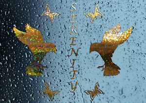 NEW-Serenity-Doves-Shower-Screen-Sticker-Bathroom-Decal-Choice-of-Colours