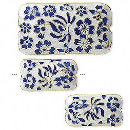 9936 Cloisonne Bead Set Floral 46\25mm 3 Piece *UK  SHOP*