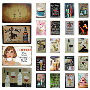 Vintage-Metal-Tin-Sign-Bar-Pub-Home-Wall-Retro-Decor-Plaque-Restaurant-Beer-Wine