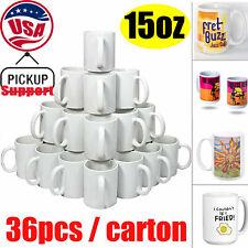 15oz Orca Sublimation Coated Mugs Blank White Transfer Mugs Pickup Only