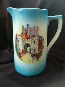 Vintage-England-Pottery-Blue-Jug-8-034