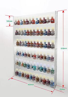 1 High Gloss Acrylic Wall Mounted 6 x 12 Nail Polish Display Rack    ANPR24B-072