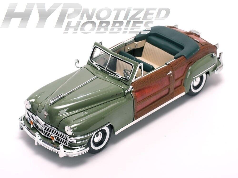 SUNSTAR 1 18 1948 Chrysler Town&Country Die-Cast verde Ss6142