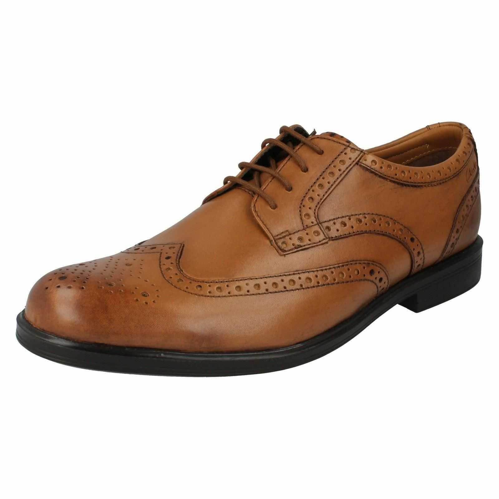 GABSON LIMIT MENS CLARKS CLASSIC LACE UP LEATHER SIZE BROGUE FORMAL WORK SHOES SIZE LEATHER 172cba