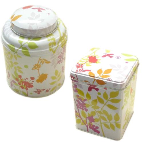 Virojanglor Té Azúcar Café Dulce caddie de almacenamiento Estaño Floral Hoja De Diseño Nuevo Vj