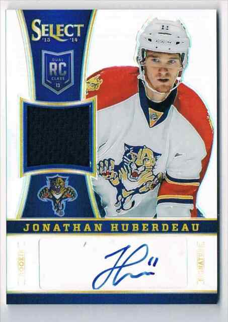cf7b1adf9 2013-14 SELECT ROOKIE JERSEY PRIZMS AUTOGRAPH JONATHAN HUBERDEAU ROOKIE AUTO