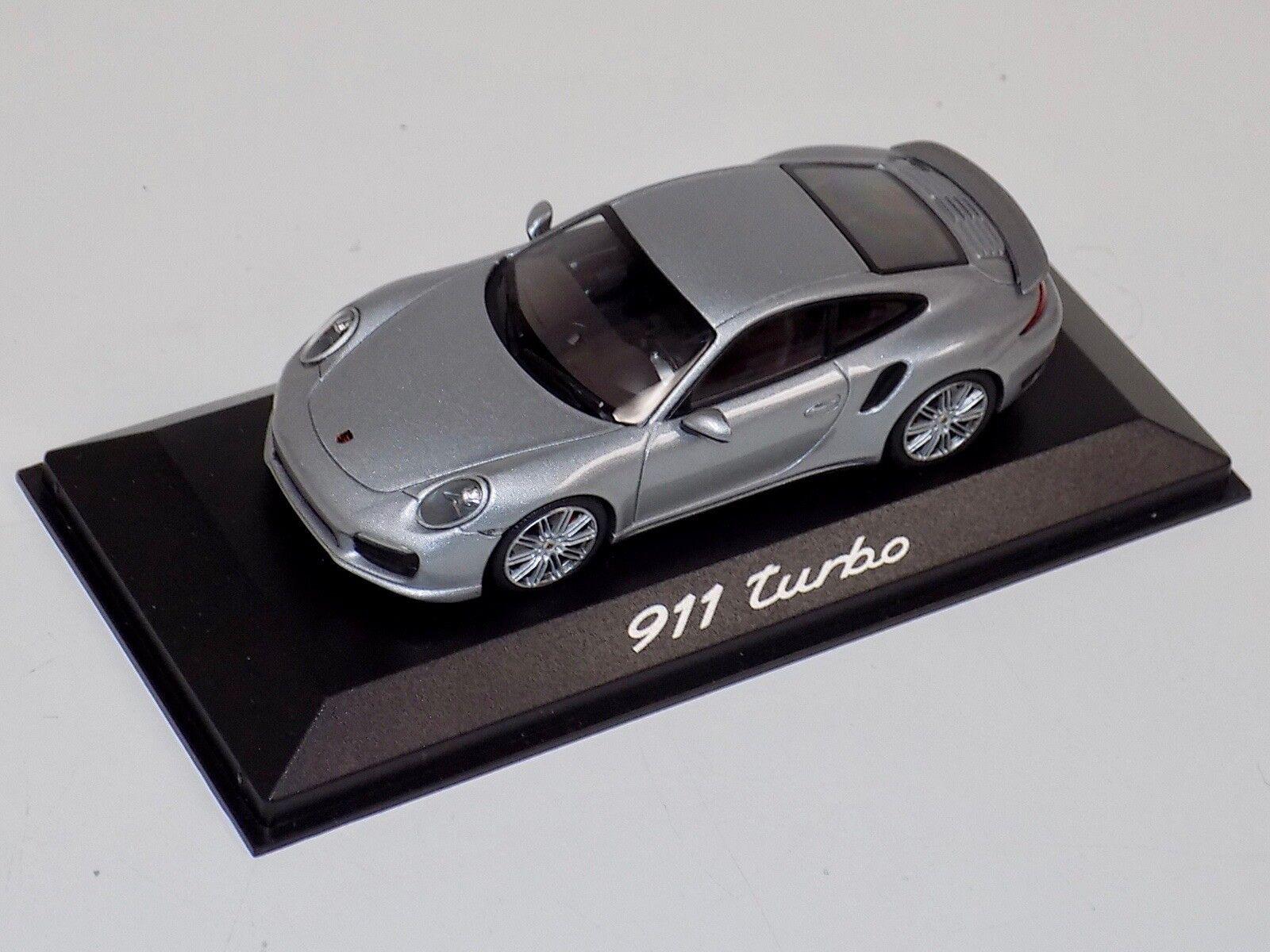 1/43 Minichamps PORSCHE 911 Turbo plata de Porsche Turbo Set 2