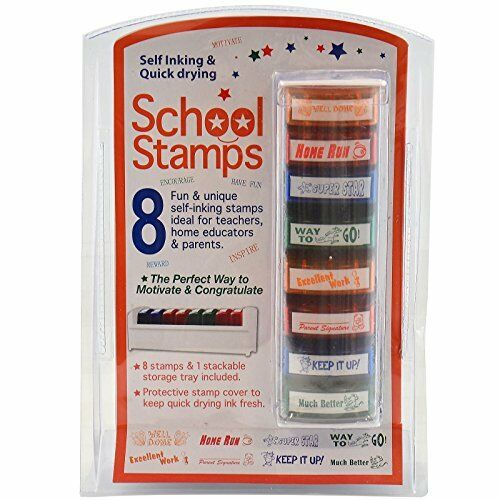 8 Auto Encrage Récompense Timbres Home Teacher Teaching aide School Student marquage